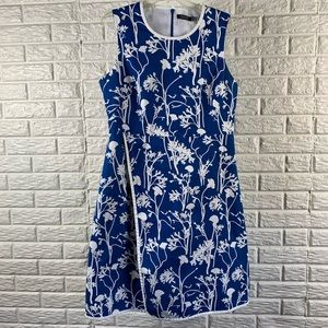 Kate Spade blue floral poppy dress
